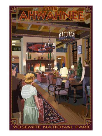 The Ahwahnee Hotel Lobby-Yosemite-AllPosters.com