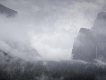 Foggy Yosemite tunnel view. AllPosters.com