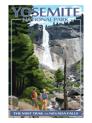 Nevada Falls From The Mist Trail-AllPosters.com