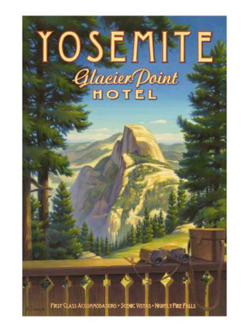 Half Dome From The Historic Glacier Point Hotel-Yosemite-Allposters.com