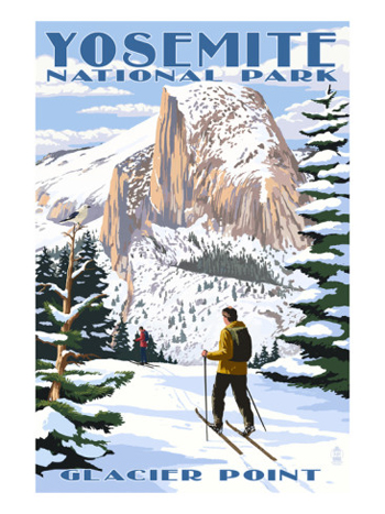 Half Dome From Glacier Point In Snow-Yosemite National Park-AllPosters.com