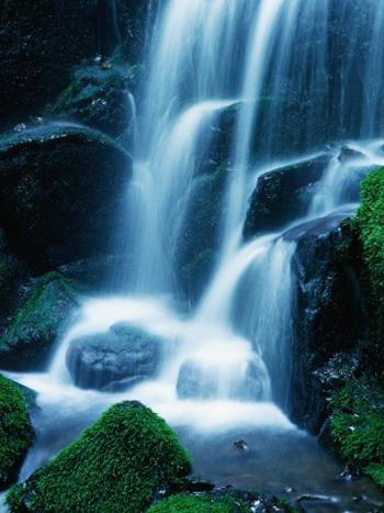 Yosemite Misty Waterfall. AllPosters.com